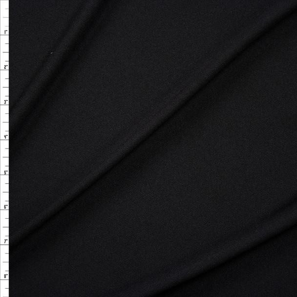 Black Poly Swimwear Lining Fabric By The Yard