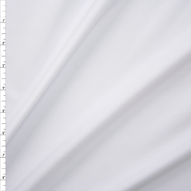 White Heavy Athletic Poly/Spandex Knit Fabric By The Yard