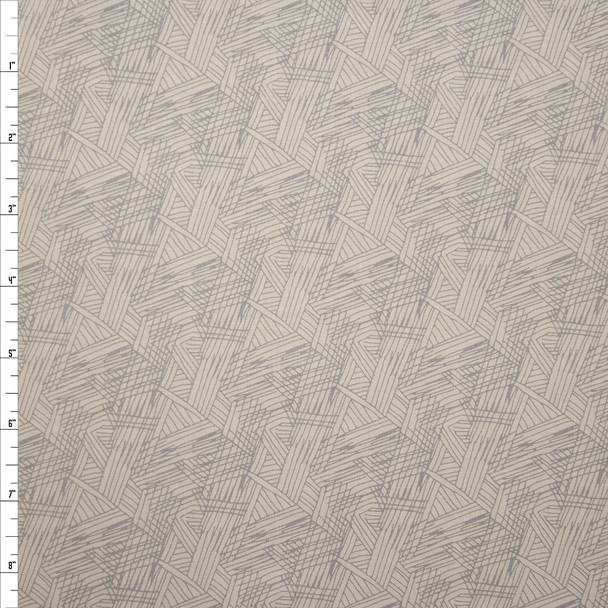 Via Crosshatch Grey on Ivory Quilter's Cotton Print from Boundless Fabrics Fabric By The Yard