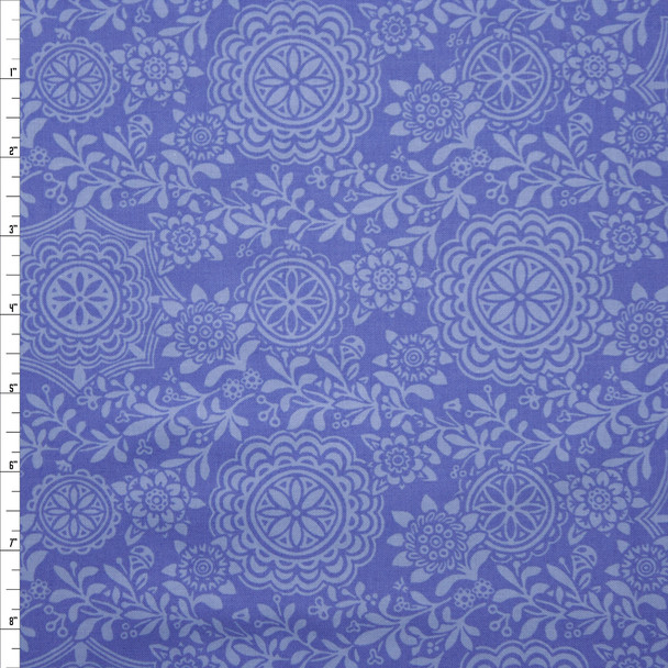 Rhapsody Medallion Lavender Quilter's Cotton Print from Boundless Fabrics Fabric By The Yard