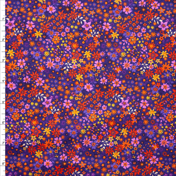 Rhapsody Purple Mini Floral Quilter's Cotton Print from Boundless Fabrics Fabric By The Yard