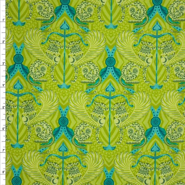 Mythic Lime Quilter's Cotton Print from Boundless Fabrics Fabric By The Yard