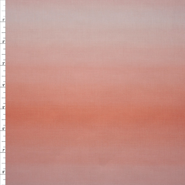 Blenders Ombre Peach Quilter's Cotton Print from Boundless Fabrics Fabric By The Yard
