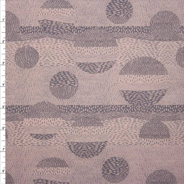 Via Blush Geometric Quilter's Cotton Print from Boundless Fabrics Fabric By The Yard