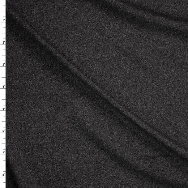 Heather Charcoal Double Brushed Poly/Spandex Knit Fabric By The Yard