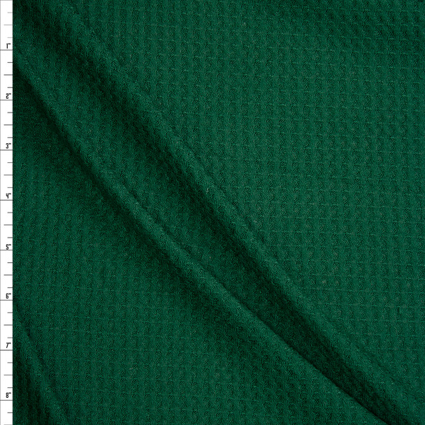 Emerald Green Soft Waffle Knit Fabric By The Yard