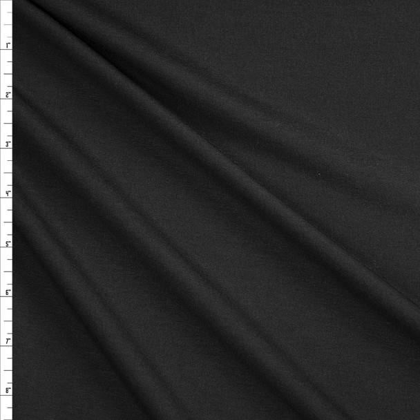 Solid Black Soft Sweatshirt Fleece Fabric By The Yard