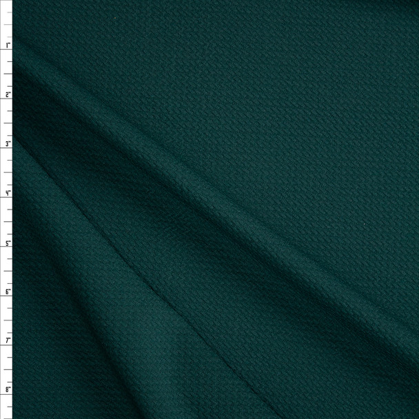 Solid Dark Emerald Green Bullet Liverpool Knit Fabric By The Yard