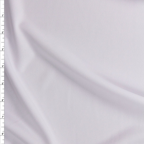 White Stretch Crepe Knit Fabric By The Yard