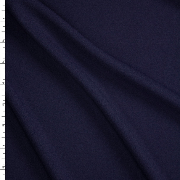 Navy Stretch Crepe Knit Fabric By The Yard