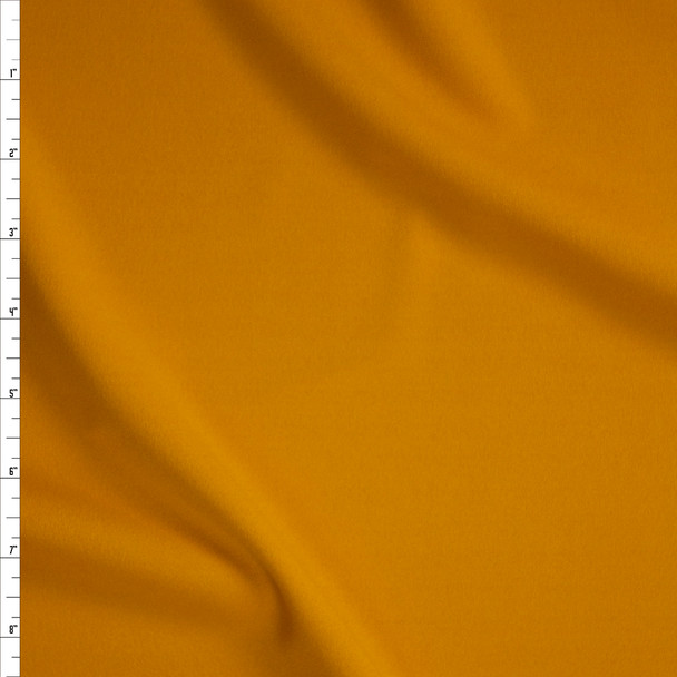 Mustard Stretch Crepe Knit Fabric By The Yard