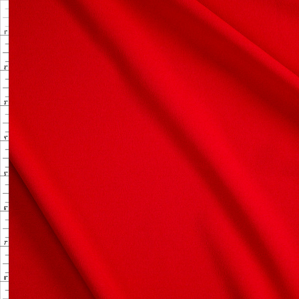 Red Stretch Crepe Knit Fabric By The Yard