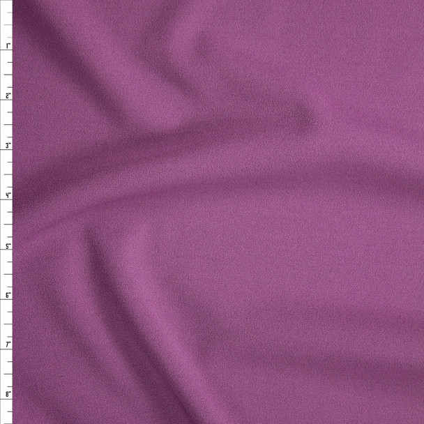 Dusty Lilac Stretch Crepe Knit Fabric By The Yard