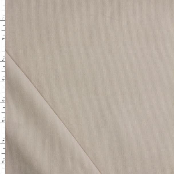 Cream Baby Wale Corduroy Fabric By The Yard