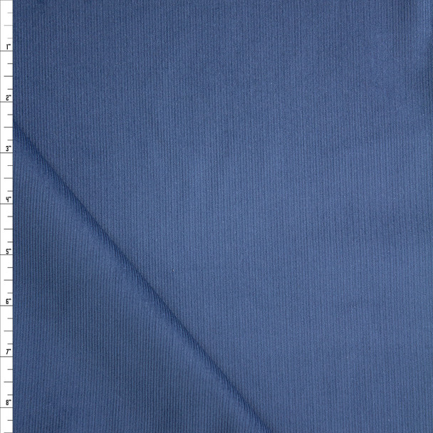 Cadet Blue Midweight Baby Wale Corduroy Fabric By The Yard