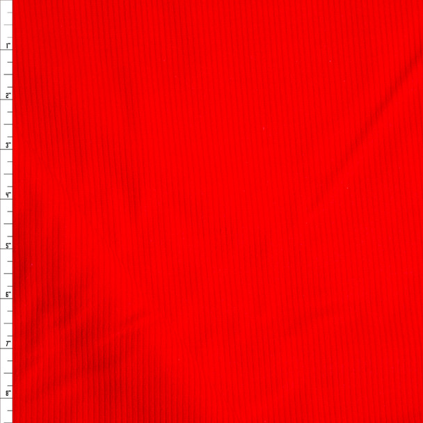 Neon Red Heavy Corduroy Fabric By The Yard