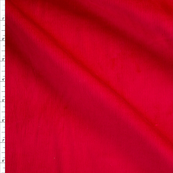 Basic Red Baby Wale Corduroy Fabric By The Yard