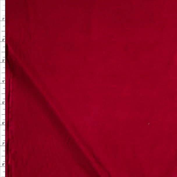 Dark Red Baby Wale Corduroy Fabric By The Yard