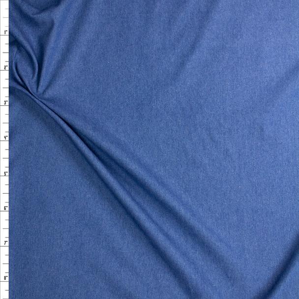 Medium Blue Washed Denim Fabric By The Yard
