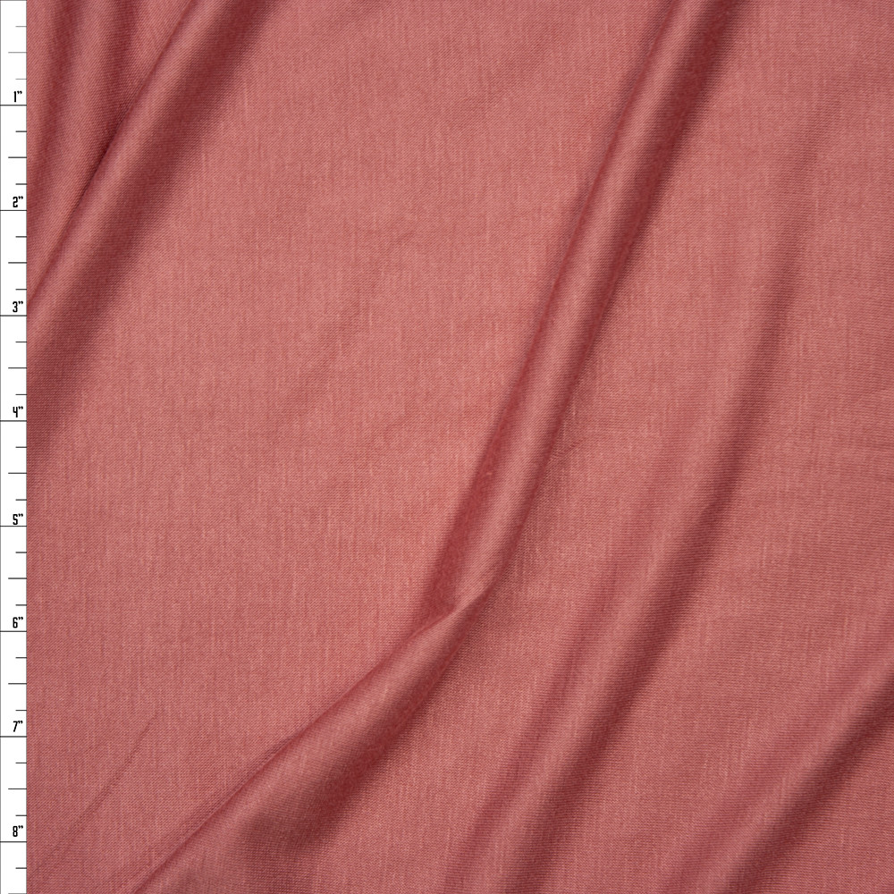 502cd00a381 Dusty Pink Lightweight 4-way Stretch Rayon Lycra Jersey Knit Fabric By The  Yard ...
