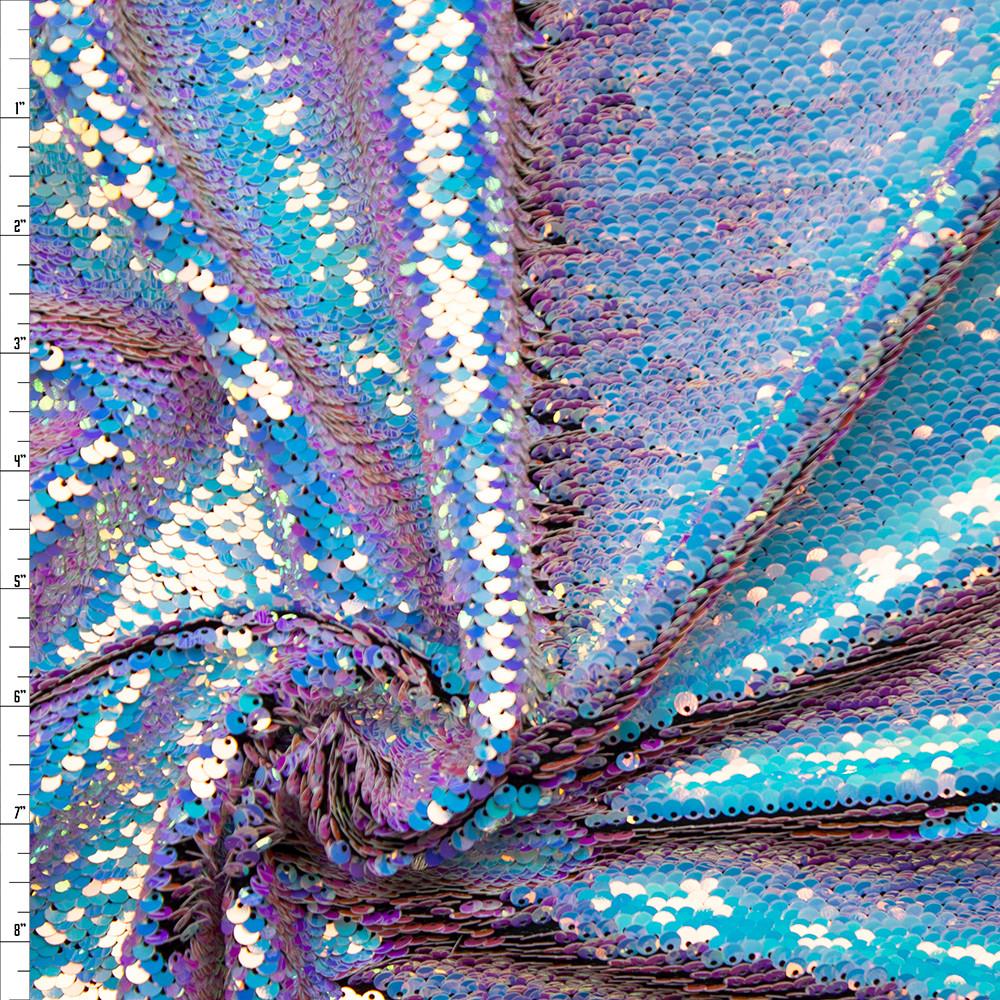 Cali Fabrics Iridescent Unicorn Reversible Sequin Fabric