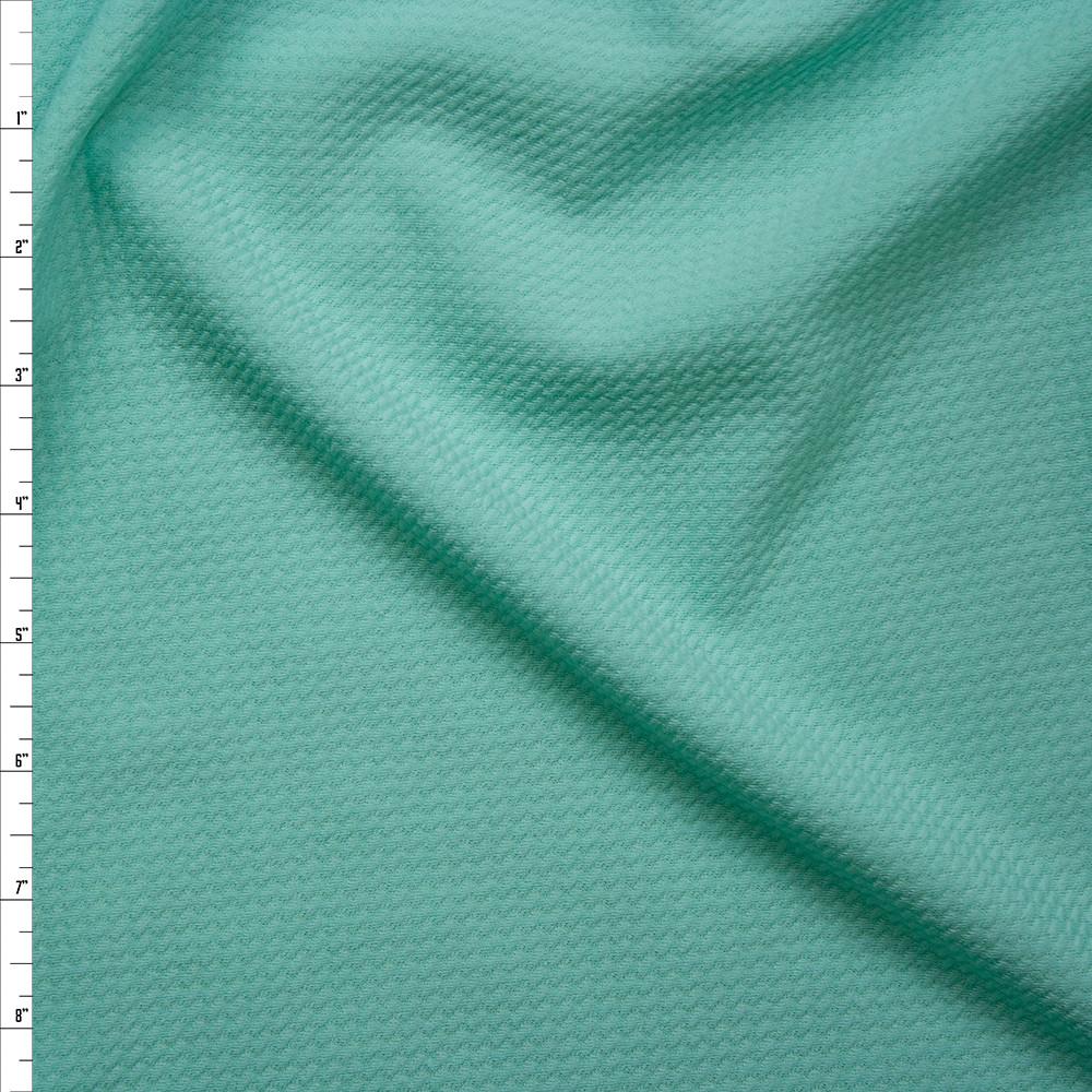 af0795a98d3 Cali Fabrics Solid Mint Green Bullet Texture Liverpool Knit Fabric ...