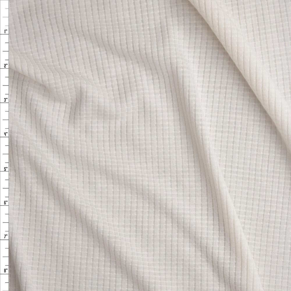 2934de988b6 Warm White Lightweight Organic Cotton Waffle Knit Fabric By The Yard ...