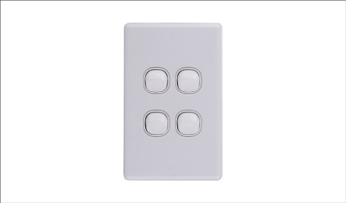 Four Gang Two Way Switch 16Amp Vertical 10 PACK
