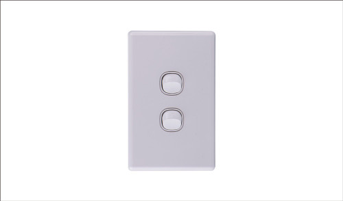 Two Gang Two Way Switch 16Amp Vertical 10 PACK