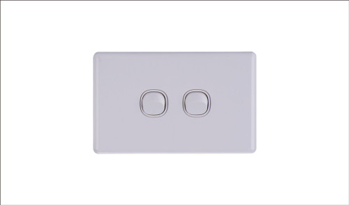 Two Gang Two Way Switch 16Amp Horizontal 10 PACK