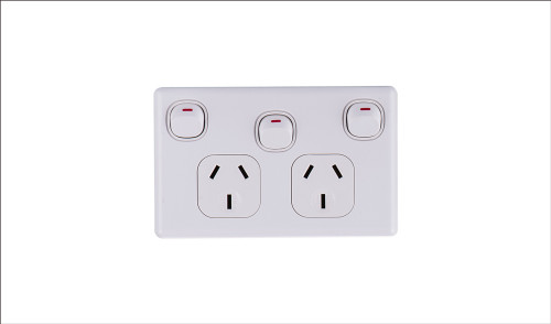 10Amp Double Power Point with extra 16Amp Switch 10 PACK