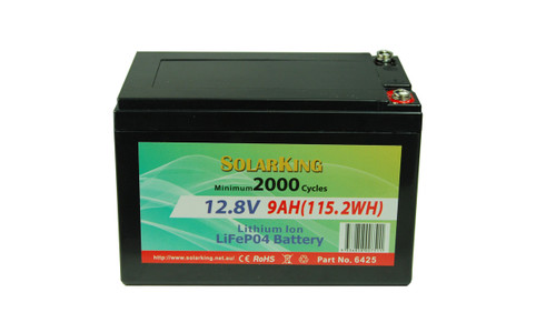 Solarking 12.8V 9AH Lithium LiFePo4  Battery