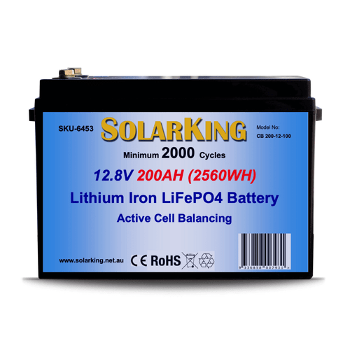 Solarking 12.8V 200AH Lithium LiFePo4  Battery