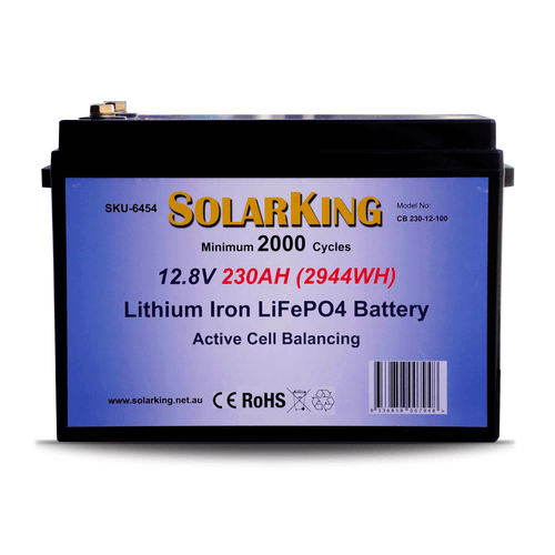 SolarKing 12.8V 230AH Lithium LiFePo4 Battery