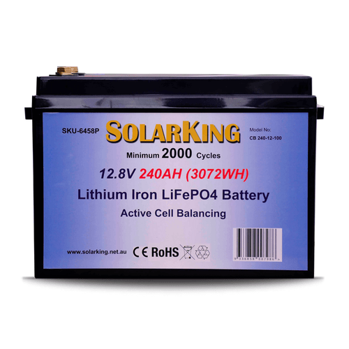 SolarKing 12.8V 240AH Lithium LiFePo4 Battery