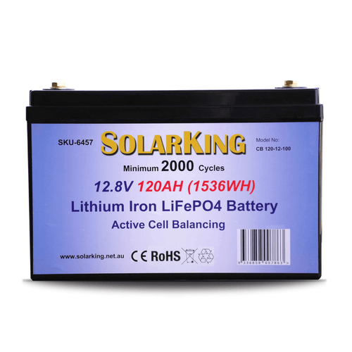 Solarking 12.8V 120AH Lithium LiFePo4  Battery