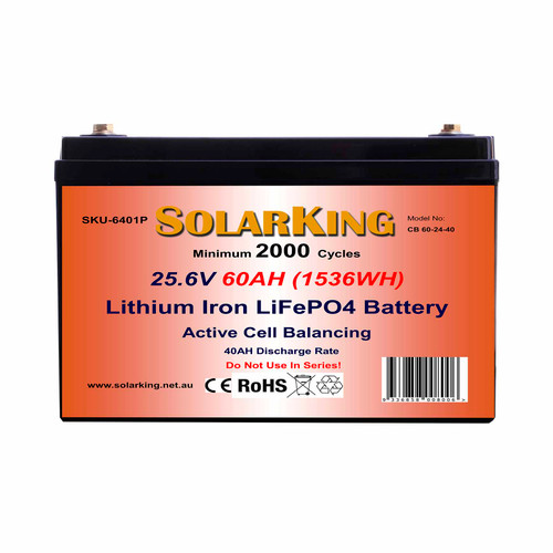 Solarking 25.6V 60AH Lithium LiFePo4  Battery