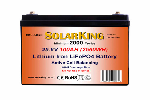Solarking  25.6V 100AH   Lithium LiFePo4  Battery