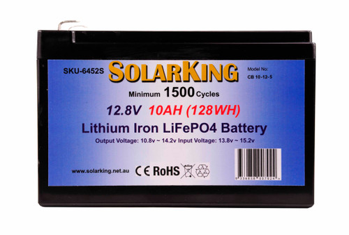 Solarking 12.8V 10AH Lithium LiFePo4 Battery