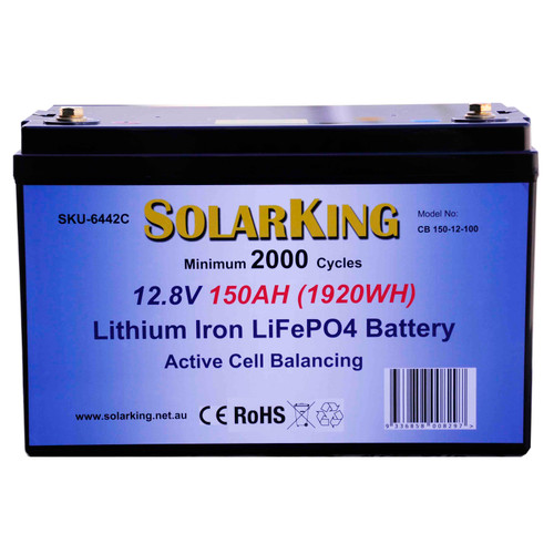 SolarKing  12.8V 150AH  Lithium LiFePo4 Battery
