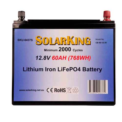60AH Lithium Iron SolarKing Battery CB-60-12-30