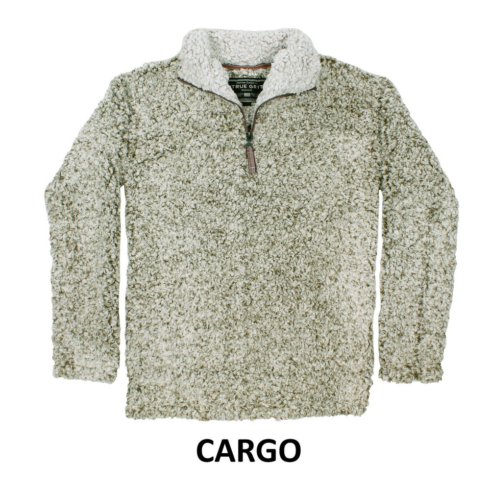 True Grit Frosty Tipped 1/4 Zip Pullover in Cargo