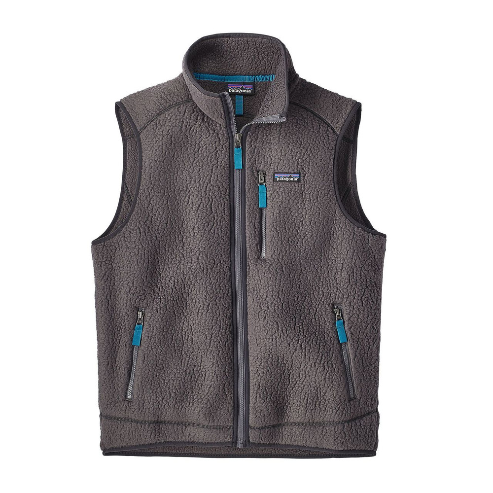 Patagonia Men's Retro Pile Fleece Vest in Forge Grey / FGE