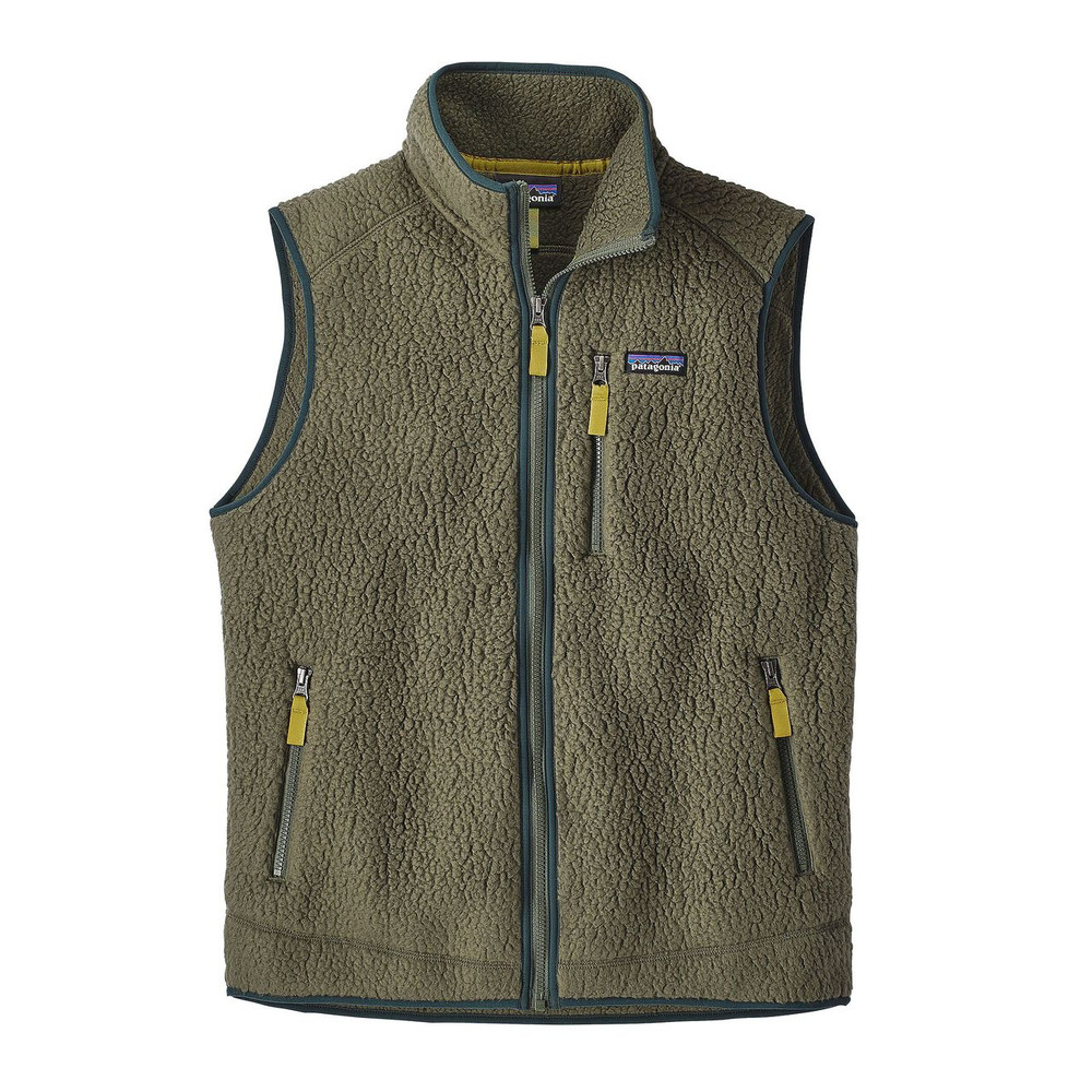 Patagonia Men's Retro Pile Fleece Vest in Industrial Green / INDG