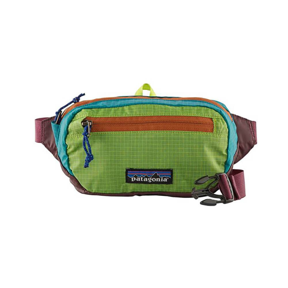 Patagonia Ultralight Black Hole® Mini Hip Pack 1L in Patchwork: Peppergrass Green / PWPG