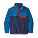 Patagonia Boys' Lightweight Synchilla® Snap-T® Fleece Pullover in New Navy / NENA