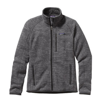 Patagonia Men's Better Sweater® Fleece Jacket in Nickel with Forge Grey