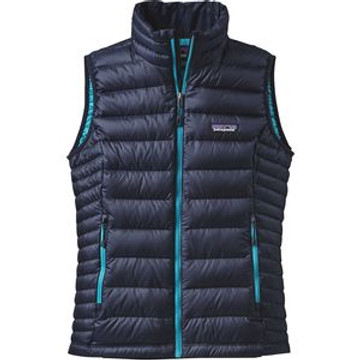 Patagonia Women's Down Sweater Vest in Navy Blue with Epic Blue (NBEB)
