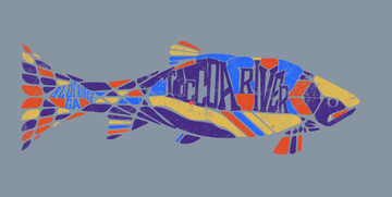 Private Label Piton Mosaic Trout Trucker - art option