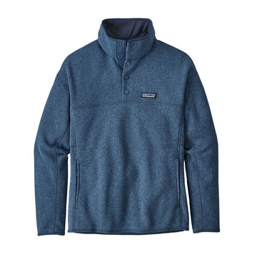 Patagonia Women's Lightweight Better Sweater® Marsupial Pullover in Wooly Blue / WOBL
